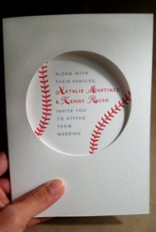 baseball wedding invitation