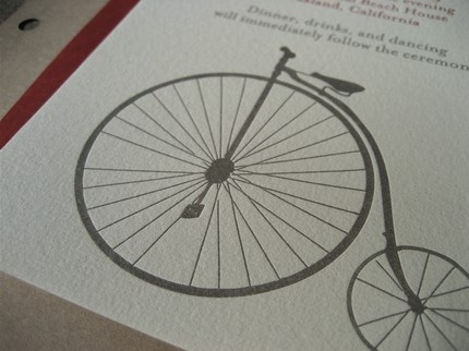 Pennyfarthing Wedding Invitation