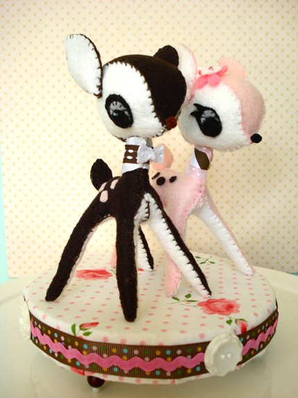 deer wedding cake toppers
