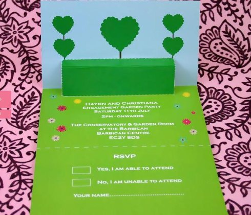 3-D wedding invitation