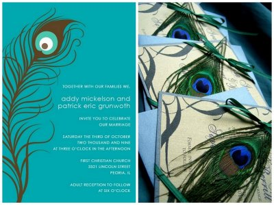 Wedding Site on Peacock Wedding Invitations   Wedding Website Examples