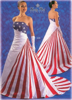 Wedding Gown Patriotic