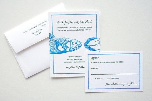 fish wedding invitations