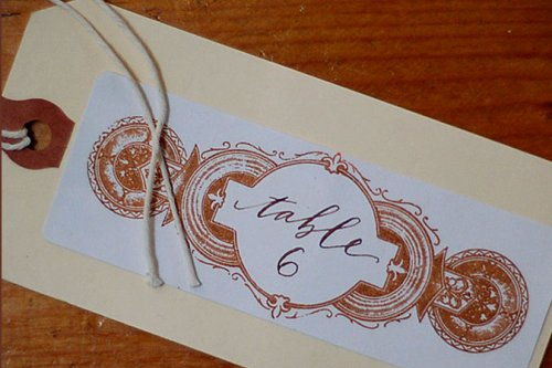table number calligraphy