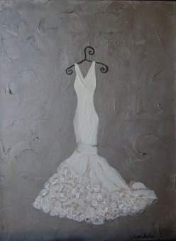 wedding dress painting