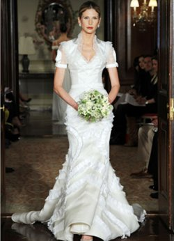 Carolina Herrera wedding dress spring 2011