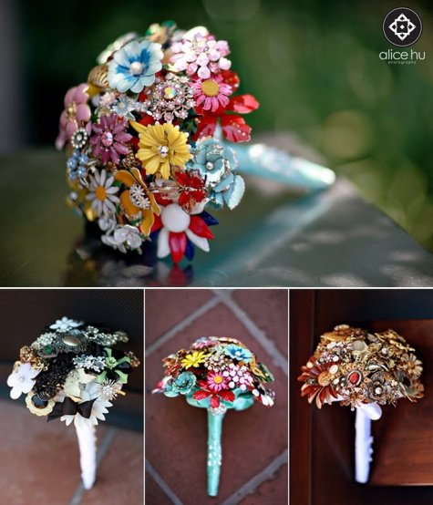 brooch bouquet by alice hu photography 2