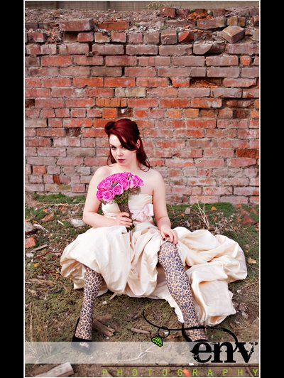 colored tights wedding dress 2