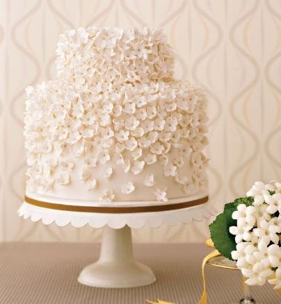 flower petal wedding cake