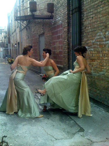 fighting bridesmaids