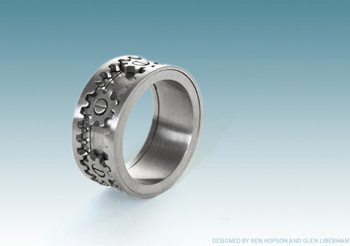 gear ring groom wedding