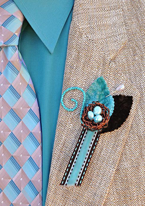DIY boutonniere groom groomsmen