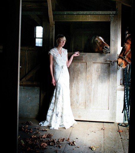 bride farm wedding