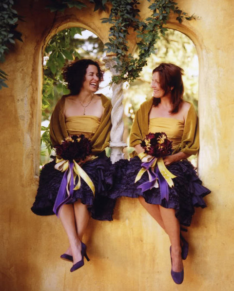 bridesmaids ruffled skirts