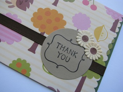"handmade thank you card designs. As in ""Thank you for the"