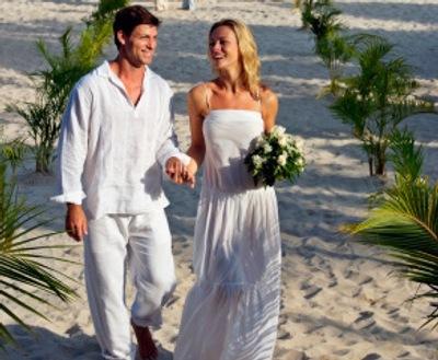 Beach Wedding Menswear on Sandos Beach Wedding