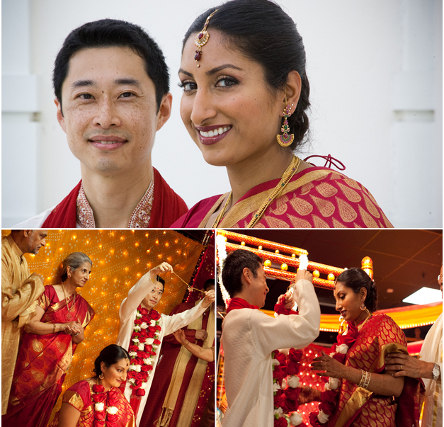 Chinese Indian wedding via