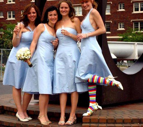 striped socks bridesmaid