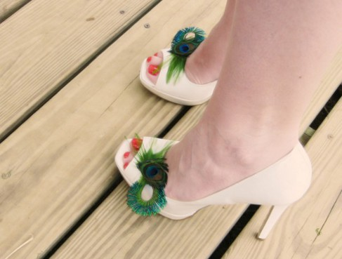 I 39ve seen amazing peacock feather shoe clips and shoe clips with gorgeous