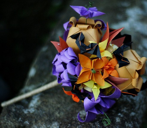 Pretty much all the alternative bridal bouquets from flowers made of