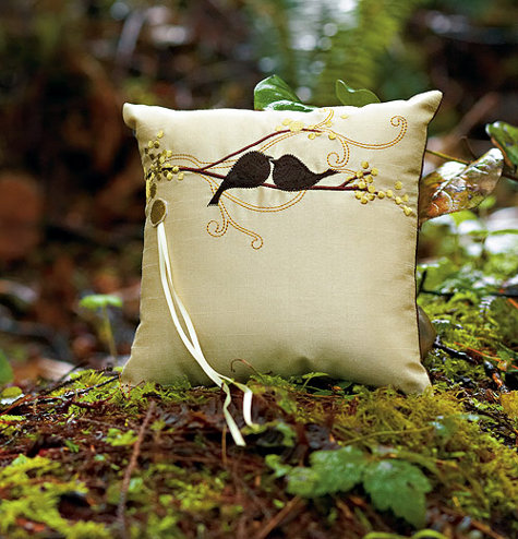 forever with the sweetlynamed lovebird ring pillow which is part of a