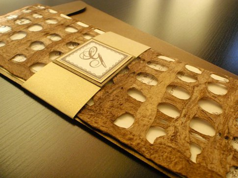 known for its unique custom handmade wedding invitations that are more