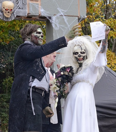 in Victorian mourning And departed the plane of their wedding altar in a