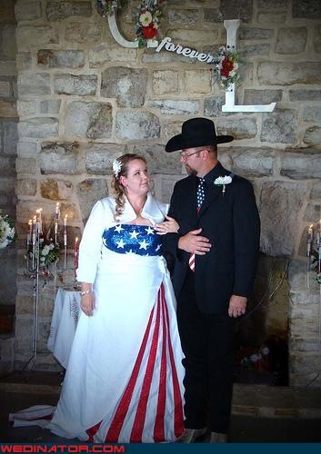 And there are brides who decide that if red white and blue is good enough