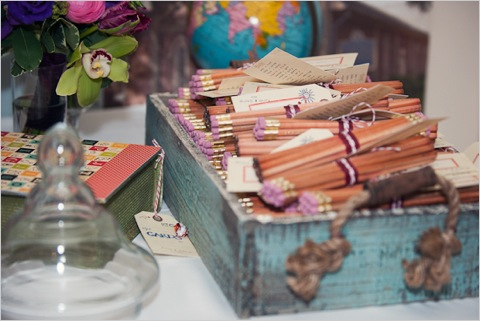 Pencils as Wedding Favors