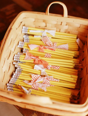 Yellow Pencil Wedding Favors