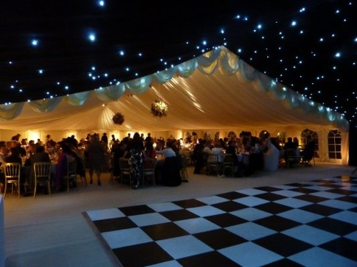 Marquee with a dance floor.