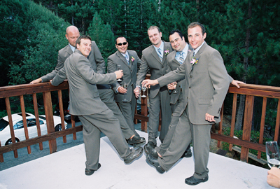 Look at these poor groomsmen...